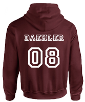 BEACON HILLS LACROSSE ON FRONT DAEHLER ON BACK HOODIE - INSPIRED BY TEEN WOLF